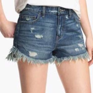 Free people distressed cutoff high waist shorts